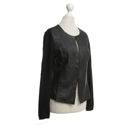 Style Butler Cardigan with leather inserts
