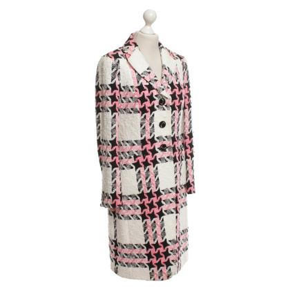 Rena Lange Bouclé coat with pattern