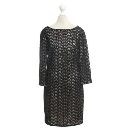 Diane von Furstenberg Kleid in Schwarz/Nude