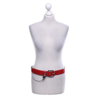 Dolce & Gabbana Patent leather belt in red