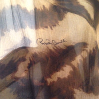 Roberto Cavalli Silk blouse with leopard print