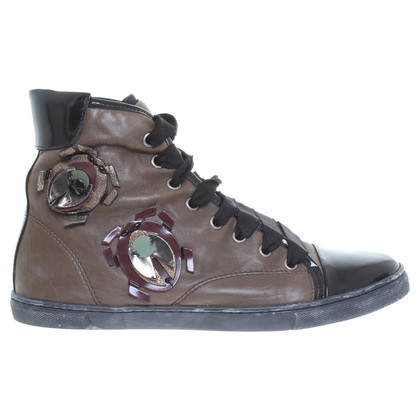 Lanvin Sneakers in Brown/zwart