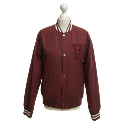 Wood Wood Bordeaux-colored bomber jacket
