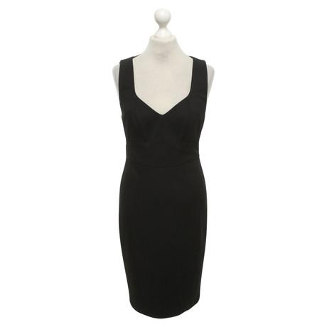 Zac Posen Tailliertes Kleid in Schwarz Schwarz