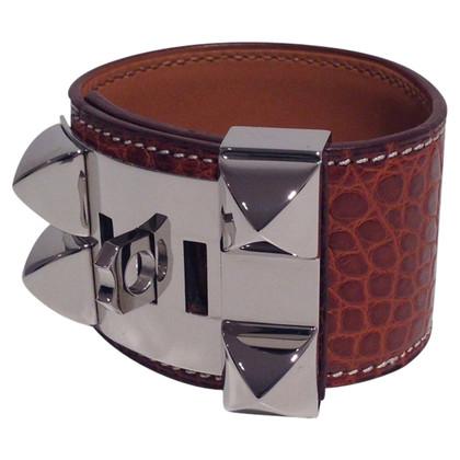 """Hermès """"Collier de Chien"""" crocodile leather"""