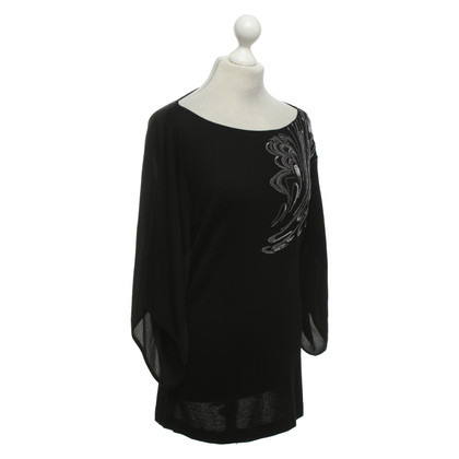 Escada Embroidered top in black