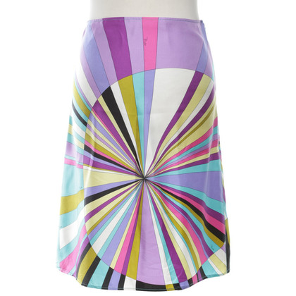 Emilio Pucci Multi-colored silk skirt