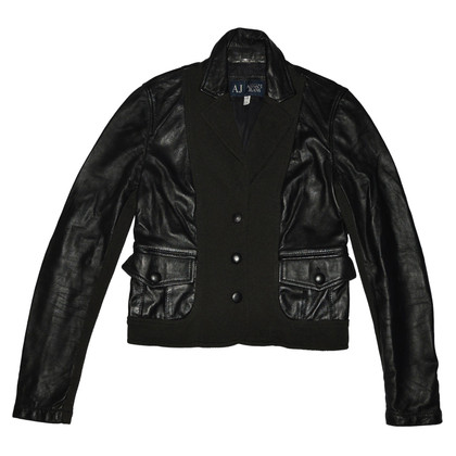 Armani Jeans leather jacket