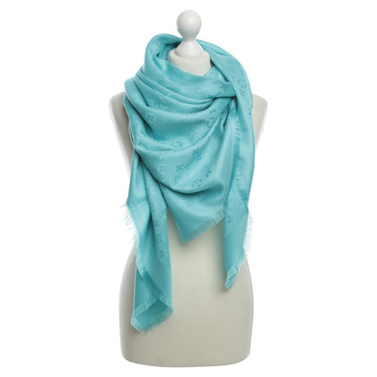 Louis Vuitton Monogram scarf in turquoise