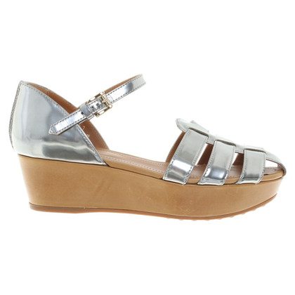 Tod's Silvery Roman sandals