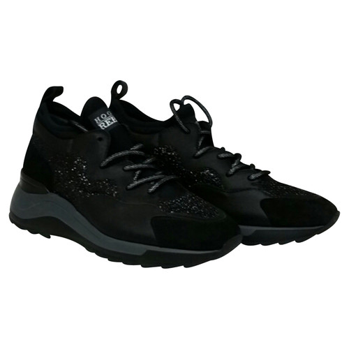 4783ad0c34 Hogan Sneakers in leather and black glitter - Second Hand Hogan ...