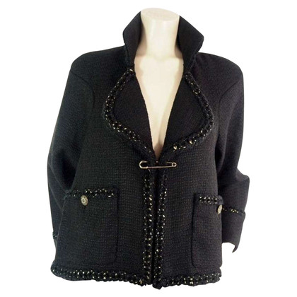 Chanel Nero Tweed Blazer