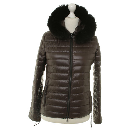 Duvetica Jacket with rabbit fur trim