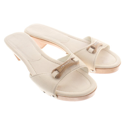 Prada Sandals in cream