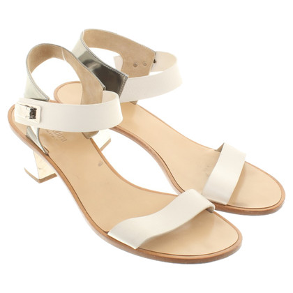 Max Mara Sandals in white / silver