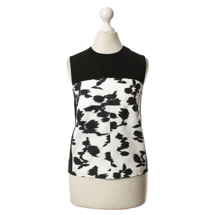 Balenciaga Top in black and white with patterns