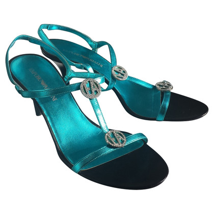 Armani Sandaletten mit Schmucksteinen