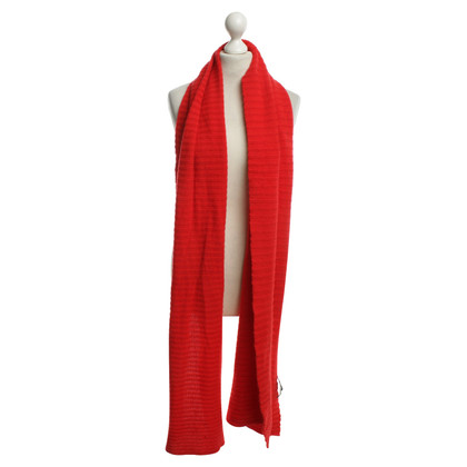 Iris von Arnim Cashmere scarf in red
