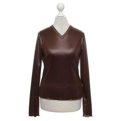 Versace top in brown