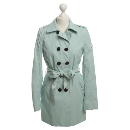 Peuterey Trench-Coat en turquoise brillant