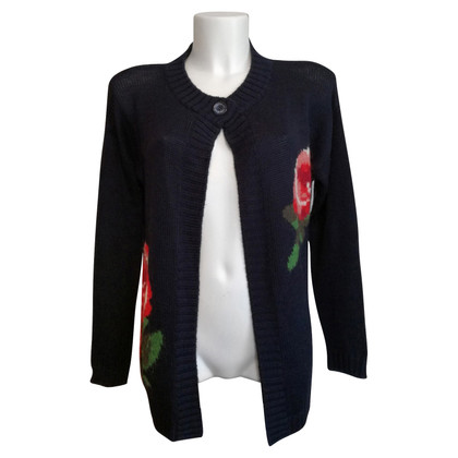 Moschino Love Cardigan with roses