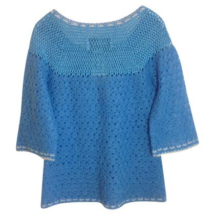 By Malene Birger Laguna crocheted baby blue top