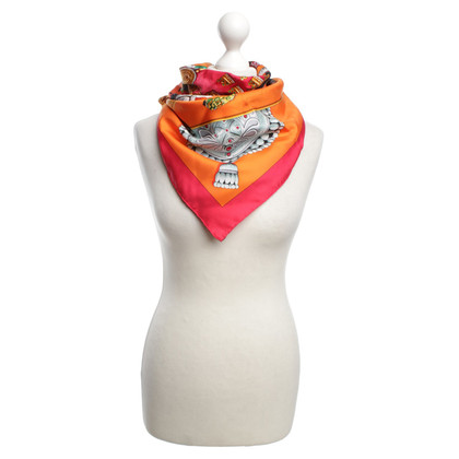 Hermès Colorful silk scarf