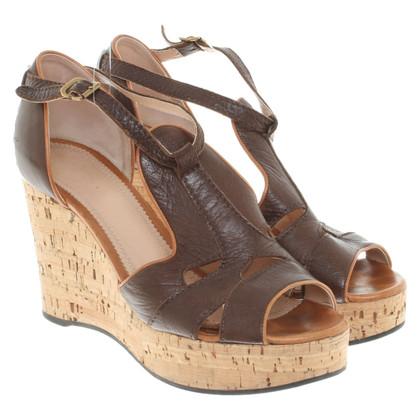 Chloé Wedges in bruin
