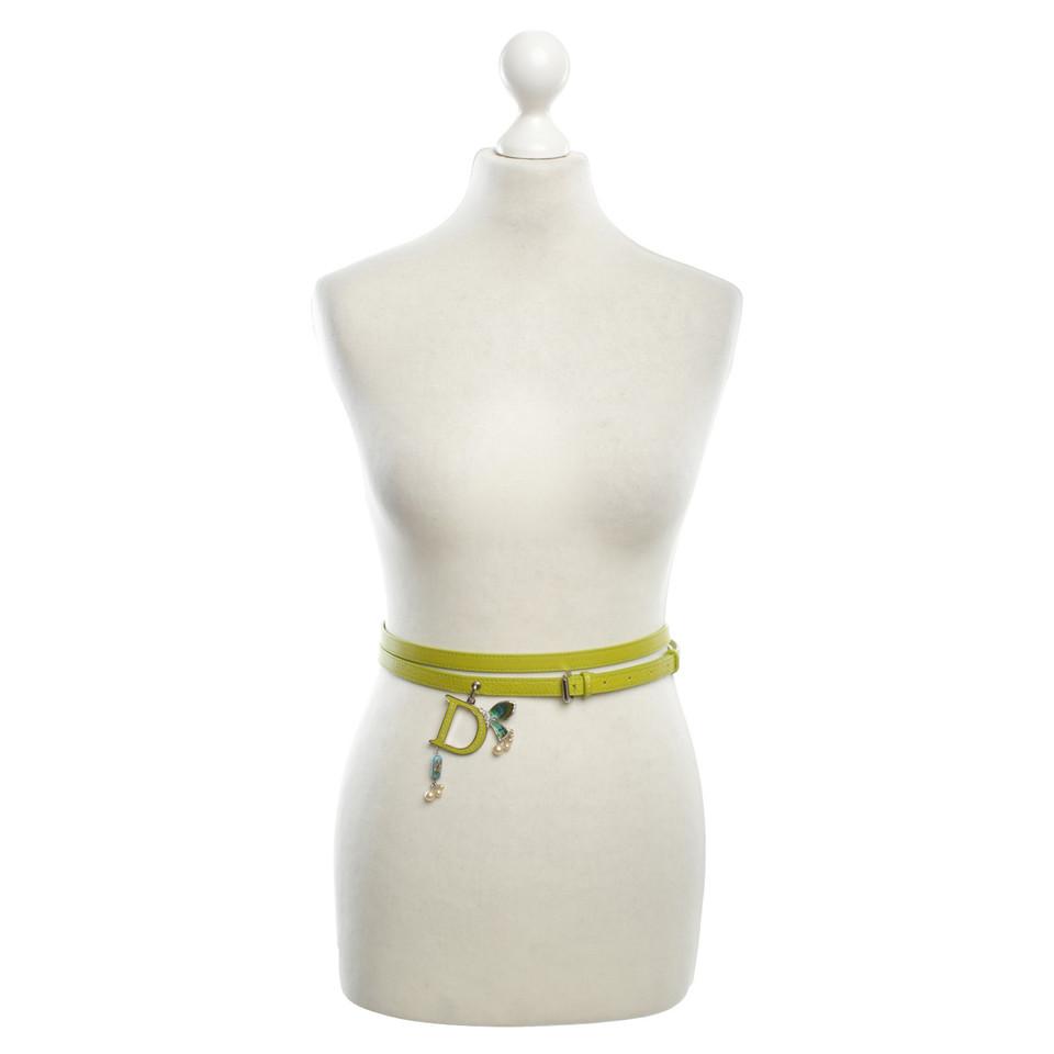 Christian Dior Belt in green