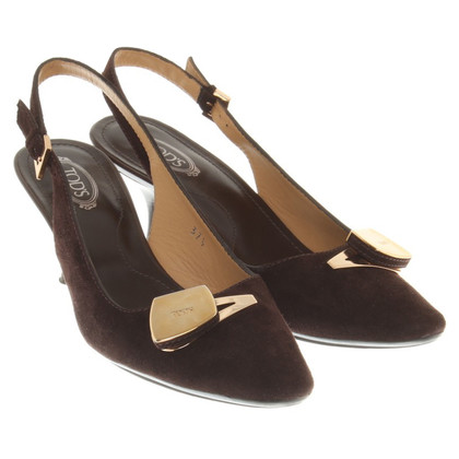 Tod's Slingbacks à Brown