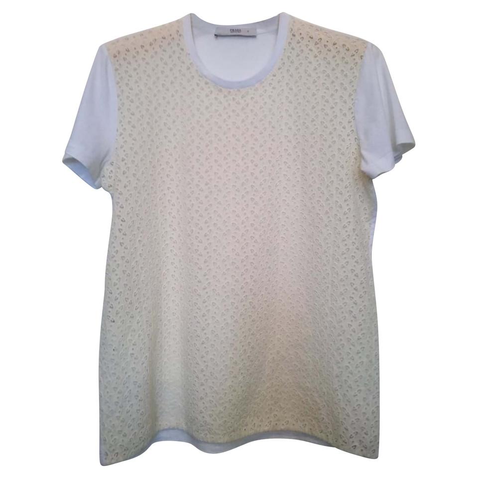 Prada T-Shirt mit Stickerei