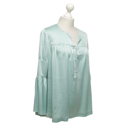 L'autre Chose Zijden blouse in mint