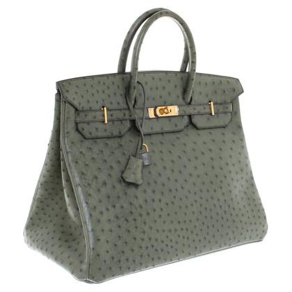 """Hermès """"Birkin Bag 40"""" dalla pelle di struzzo"""