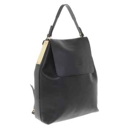 Sophie Hulme Leather backpack in black