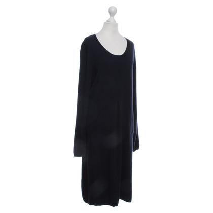Allude Kasjmier jurk in donkerblauw