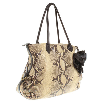 Just Cavalli Handbag with snake print
