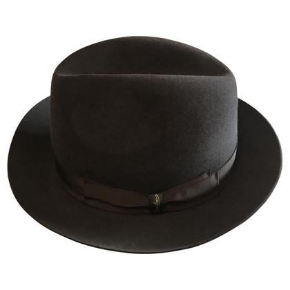 Borsalino Vilten hoed in bruin