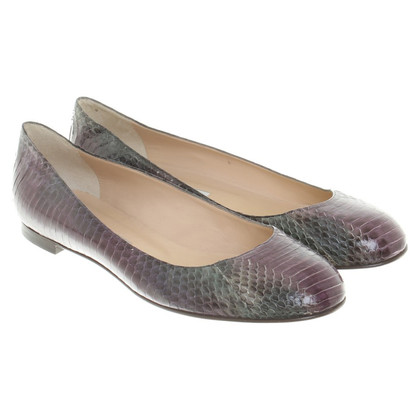 Manolo Blahnik Ballerinas from reptile leather