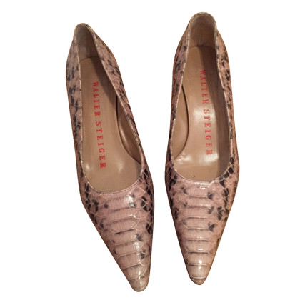 Walter Steiger  pumps with snake pattern