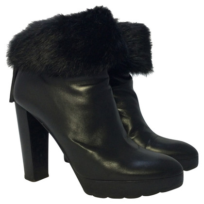 Walter Steiger Ankle boots with fur trim