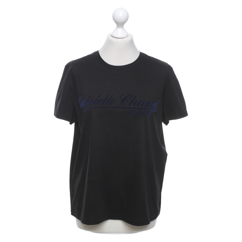Chanel T Shirt In Black Buy Second Hand Chanel T Shirt