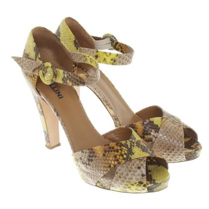 Pollini Sandals in reptile look