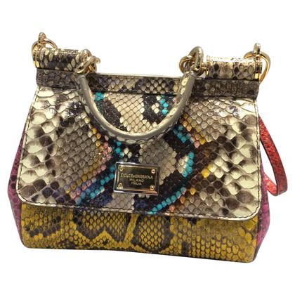 Dolce & Gabbana Python leer handtas