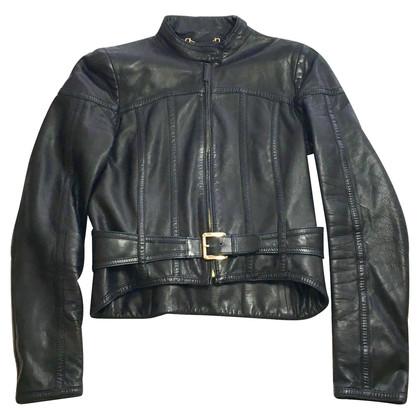 Gucci GG Biker Leather Jacket