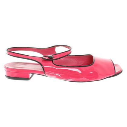 Prada Sandals pink patent leather