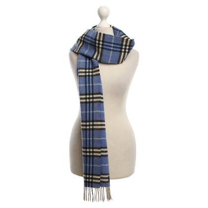 Burberry Blue checkered scarf