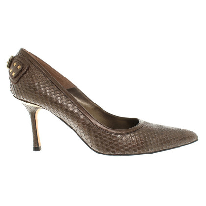 Gianni Versace pumps of reptile leather