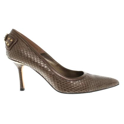 Gianni Versace pumps van reptielenleer