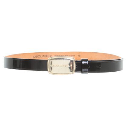 Dsquared2 Cintura in cuoio nero