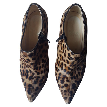 Christian Louboutin Leopard heel ankle boots